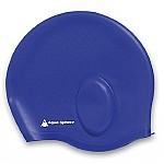 Bonnet de bain bleu en silicone Aquaglide Aquasphere .