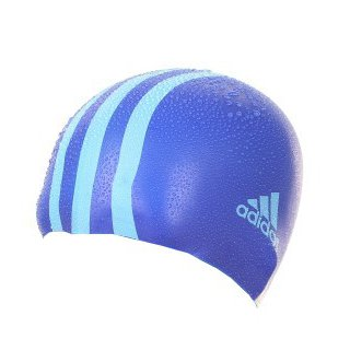 Bonnet de bain bleu junior Adidas